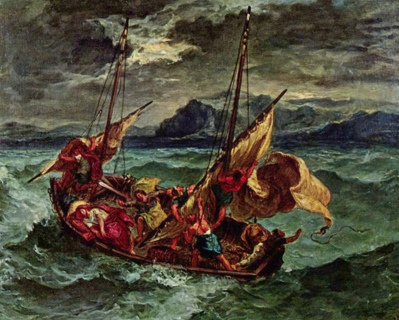 Delacroix - Christ on the Sea of Galilee