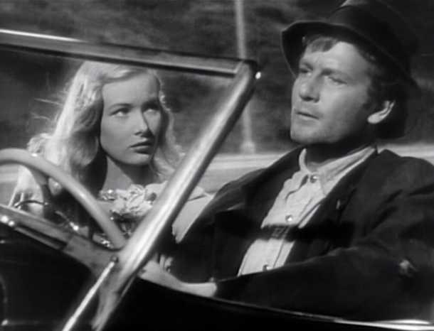 Veronica Lake and Joel McCrea in Sullivan'sTravels