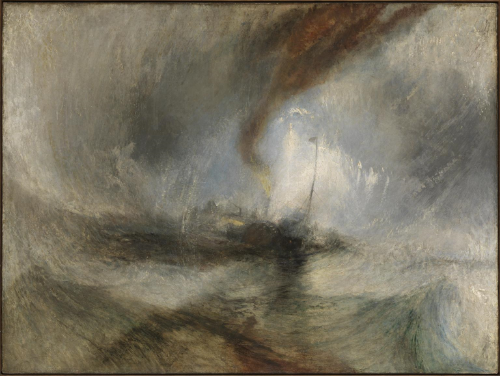 Snow Storm - Steam-Boat off a Harbour's Mouth  -  Joseph Mallord William Turner