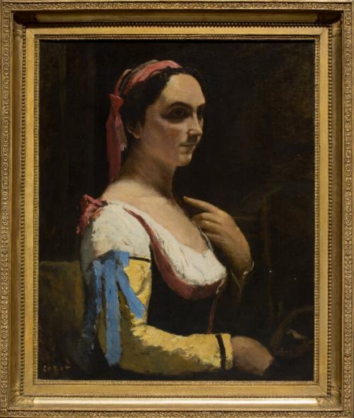 Italian Woman -Jean-Baptiste-Camille Corot,Circa 1870