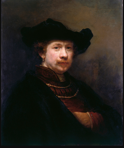 Rembrandt  'Self-Portrait in a Flat Cap'