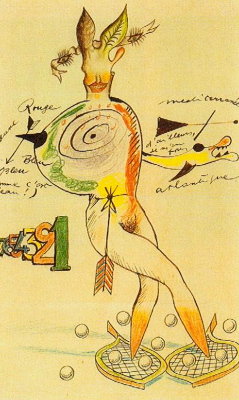 'Nude Cadavre Exquis' Yves Tanguy, Joan Miró, Max Morise, Man Ray (1926-27)