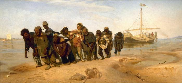 Ilya Repin, Volga Boatman