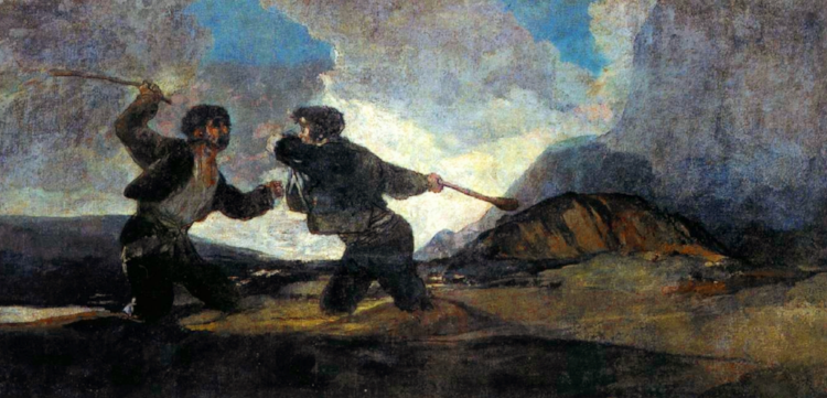 Goya, Fight with Cudgels