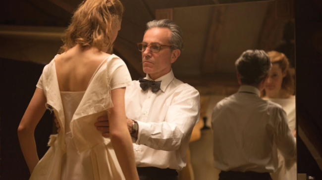 Vicky Kreips and Daniel Day-Lewis in Phantom Thread. Photo - Laurie Sparham/Focus Features