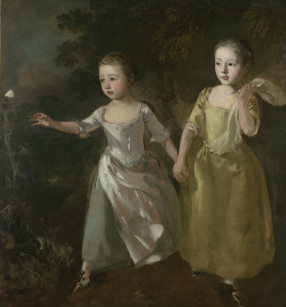 Thomas Gainsborough -The Painter's Daughters chasing a Butterfly. Circa 1756.  Courtesy of The Nation Gallery