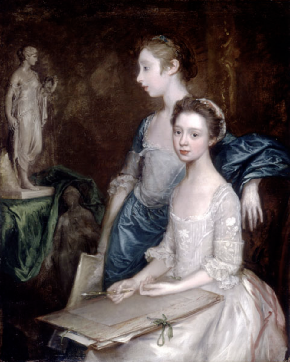 Thomas Gainsborough  Portrait of the Artist's Daughters , about 1763-64. Courtesy of Worcester Art Museum