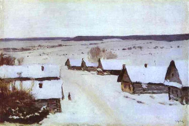 Village in Winter. Isaac Levitan
