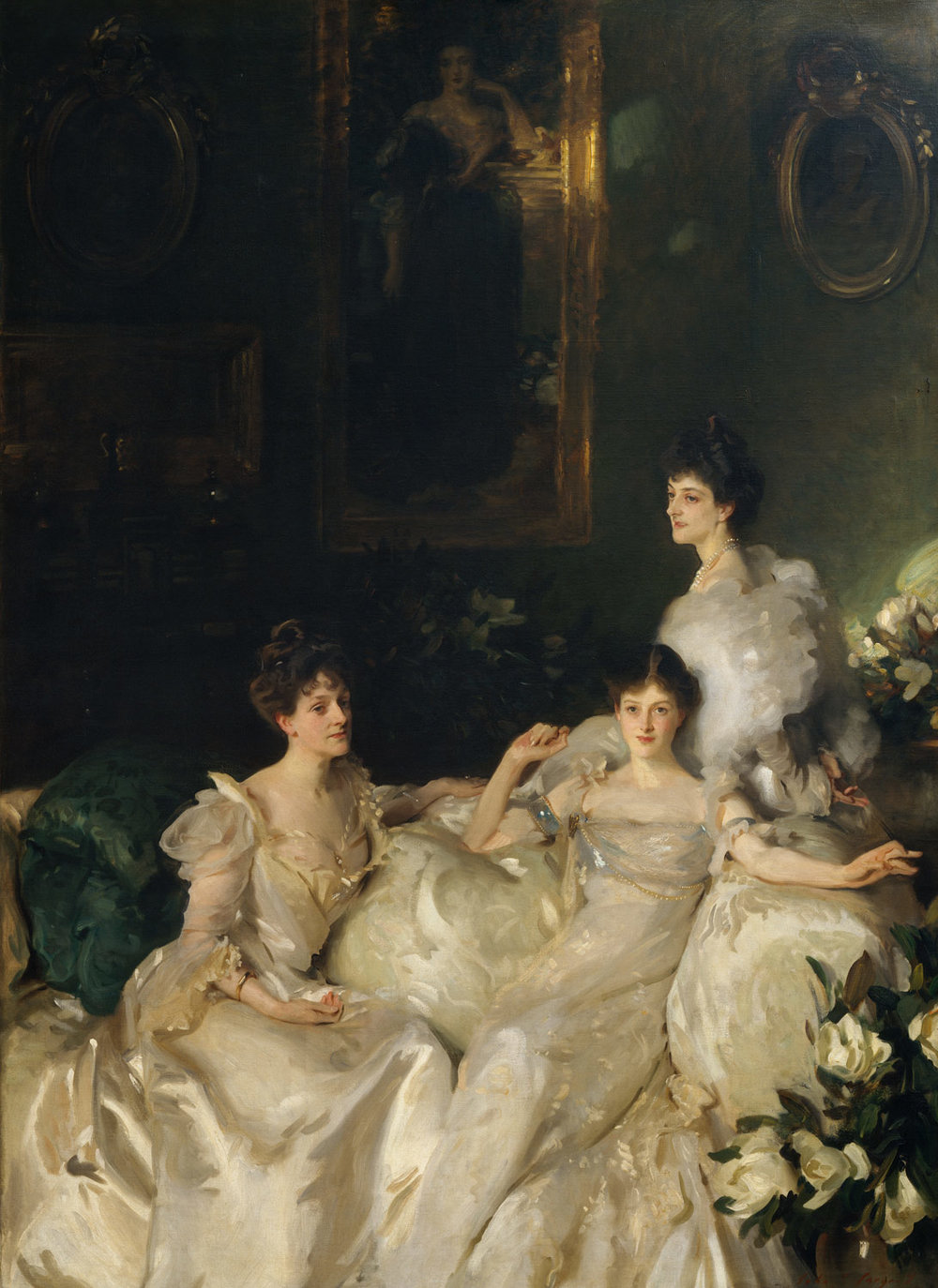 The Wyndham Sisters by   John Singer Sargent 1899