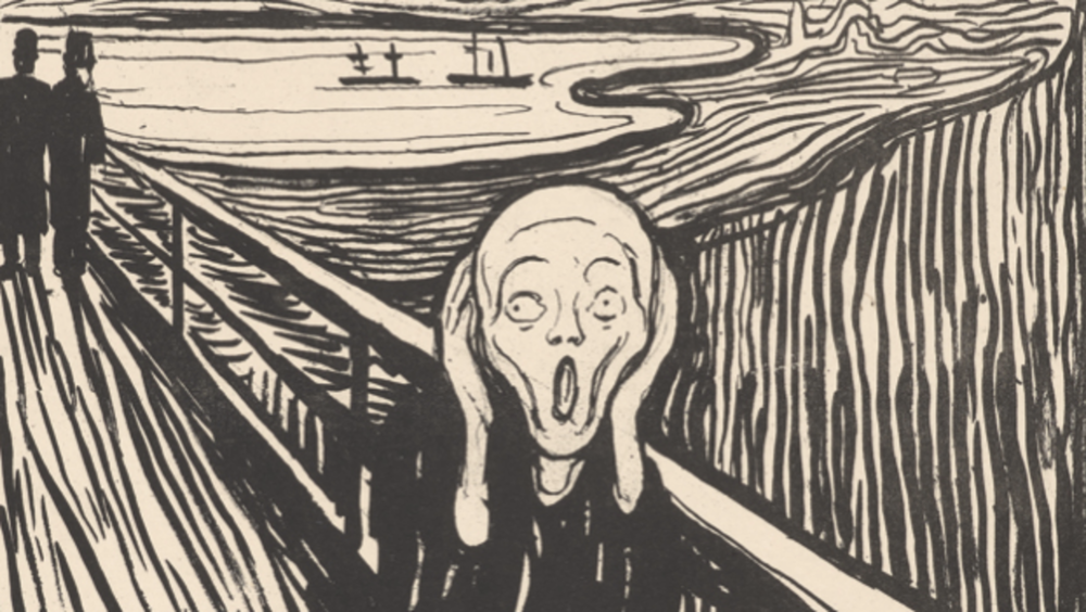 Edvard Munch, The Scream, detail of lithograph, 1895.