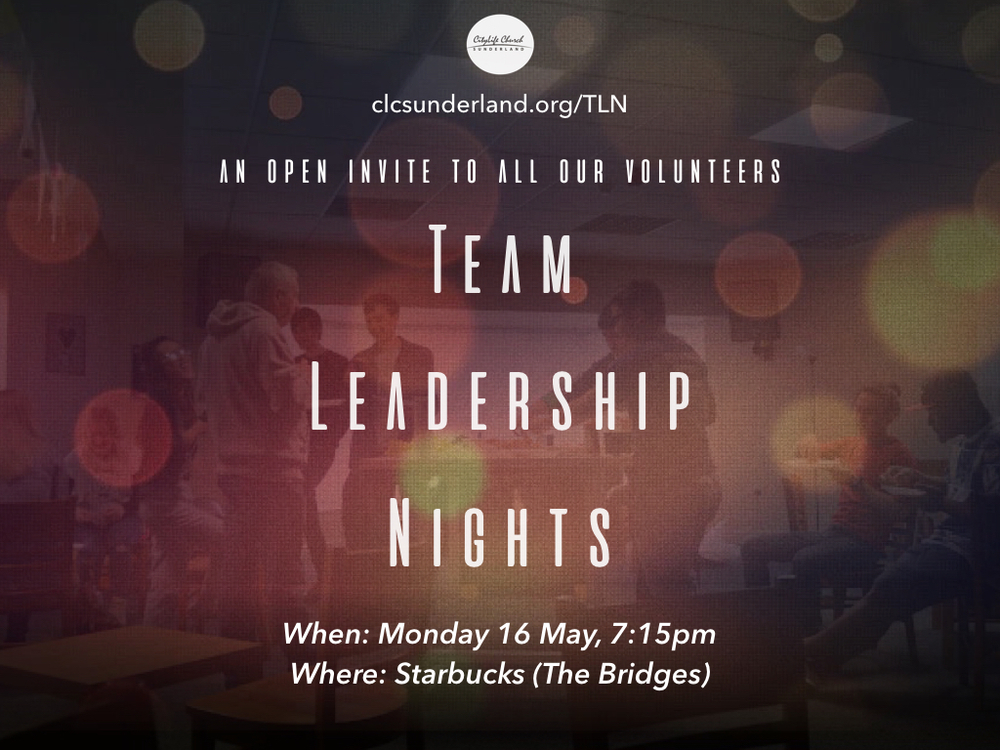 Open to anyone who serves on team. We are excited to have our first TLN at Starbucks in the city centre. The purpose of TLN is to help grow your leadership capacity so that you can be the best you can be.