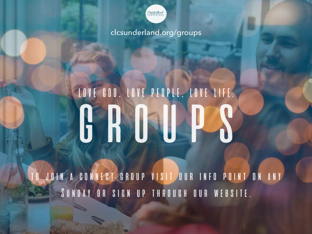 Connect Groups are running this week across Tuesday, Wednesday and Thursday.  Click here to discover more info!