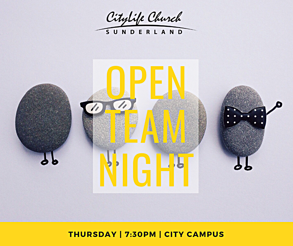 You are INVITED!   Open Team Night is for anyone and everyone who considers City Life Church home.  It is a great opportunity to meet new people, make new friends and find out the heartbeat behind why we do what we do each week.  It is a night of worship, discussions, curry and fun! It will be a night full of life and encouragement!