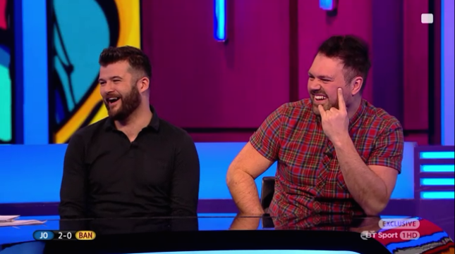 Dom & Tom laughing at something on the show...