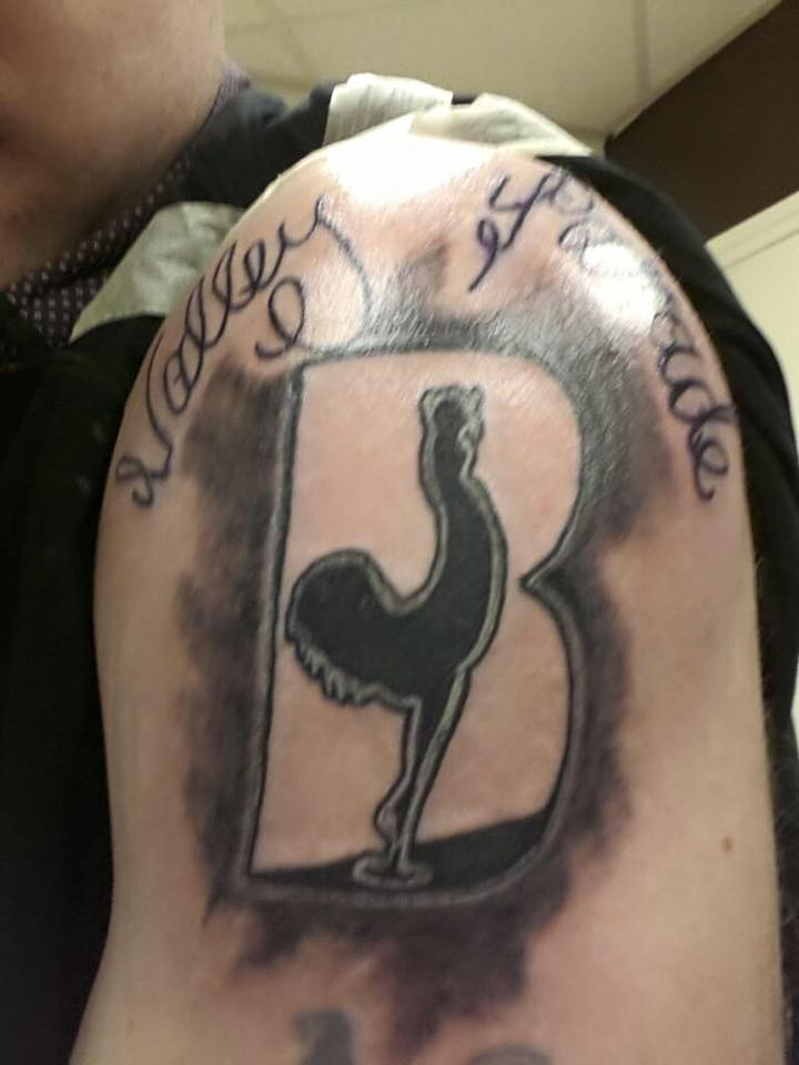 One of our listeners, Gaz Wright, had our logo permanently tattooed onto his arm! We think that's a pretty good testimonial!