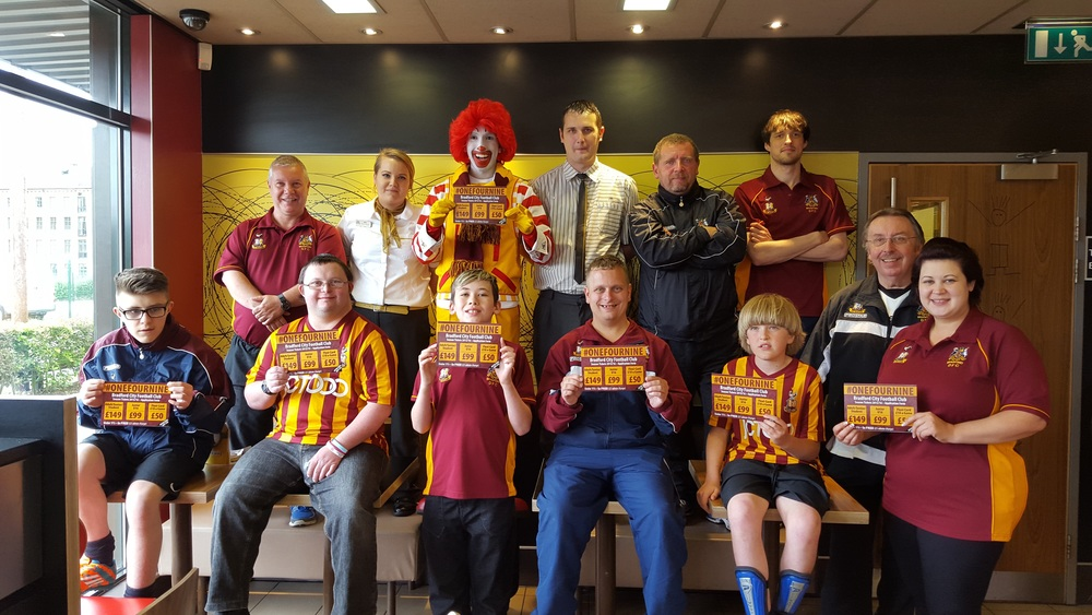 Some of the BDFC bunch pictured with Ronald
