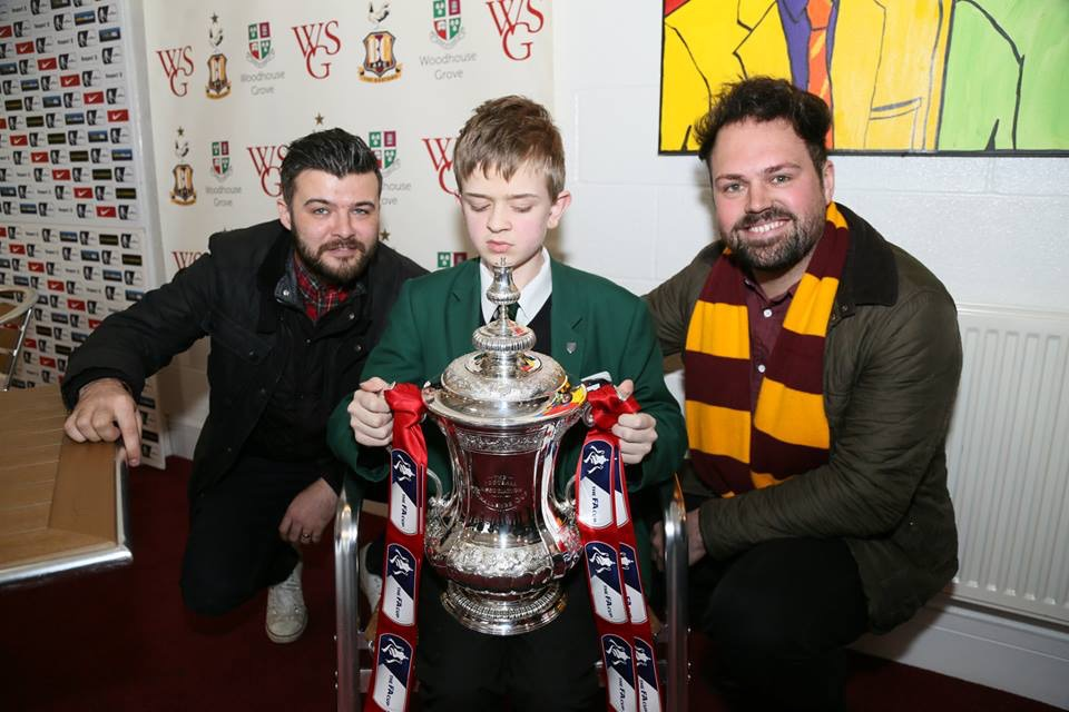 Dom, Louis and Tom with THE FA Cup trophy!