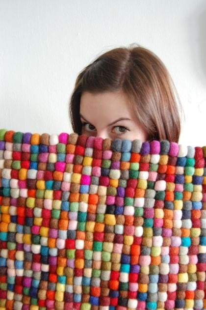 "Conversation Pieces - ""Friday i'm in love ... with our crafty felt rug"""