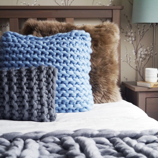 Lauren Aston Chunky Knit Cushions