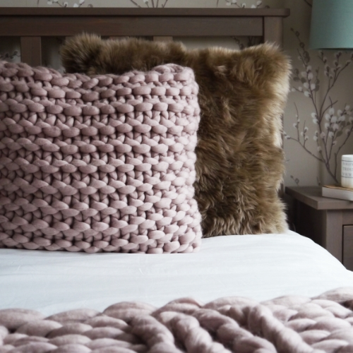 Large Square cushions Mink