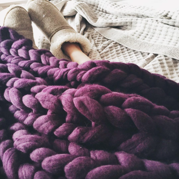 Lauren Aston Designs Aubergine Blanket