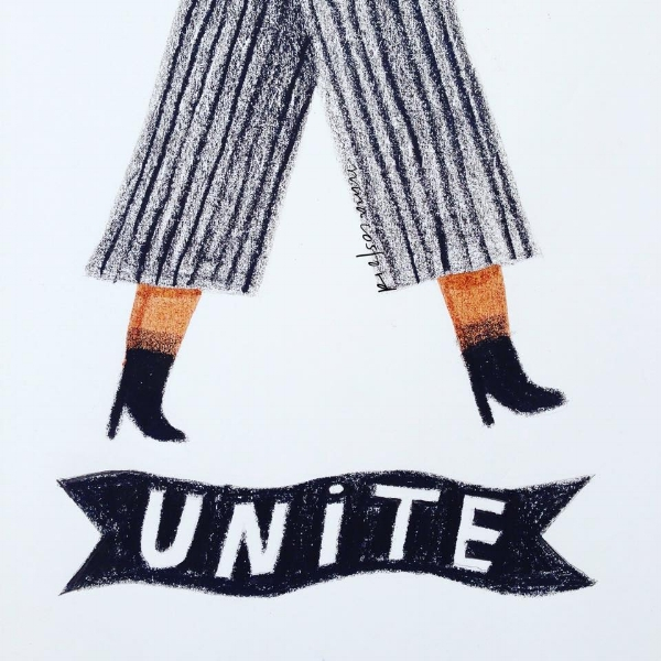 Nina Gosford illustration. You go girl!
