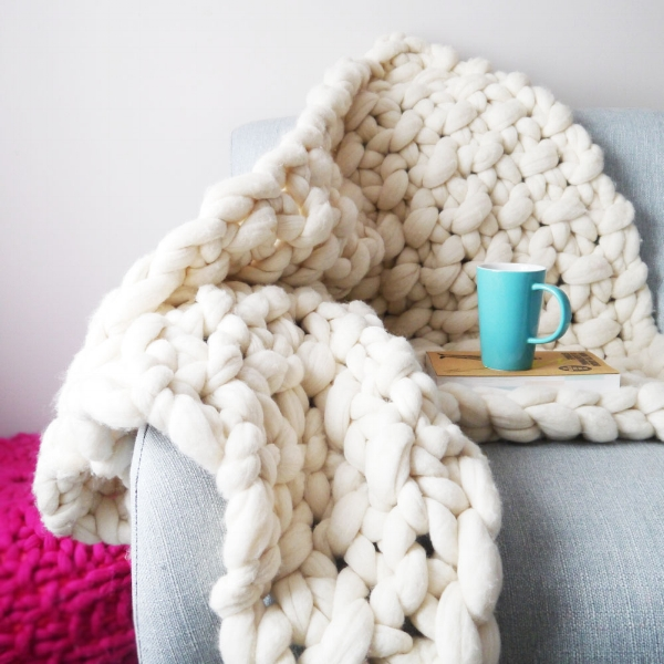 White Lap Blanket
