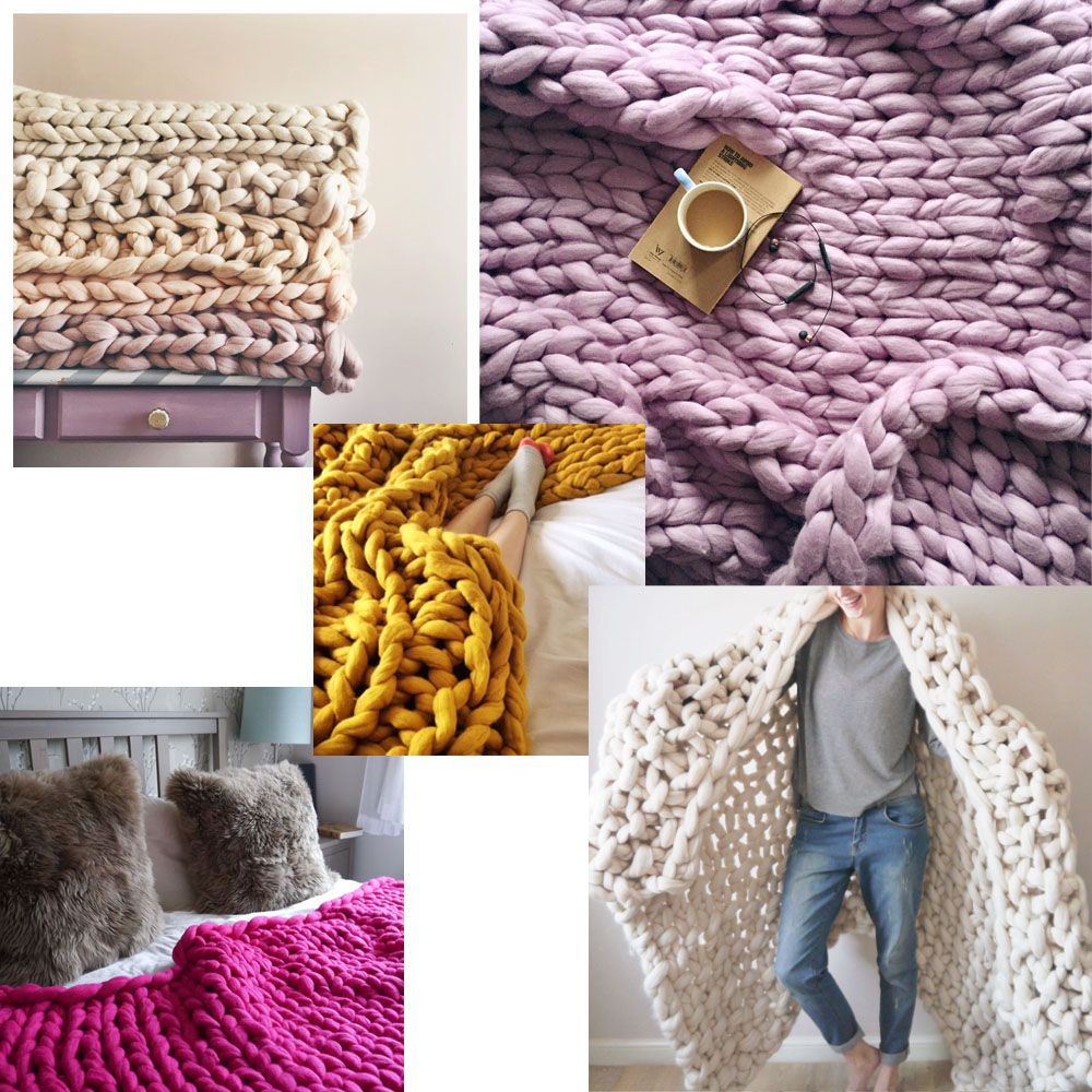Shop Blankets - You can't get cosier than a giant knit blanket. With options to choose your favourite size, stitch and colour there's over a hundred varieties in total so we're sure to create a blanket to suit you.