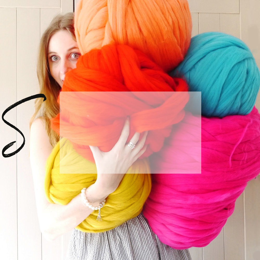 ...DIY - Giant Wool, Needles, Instructions & more