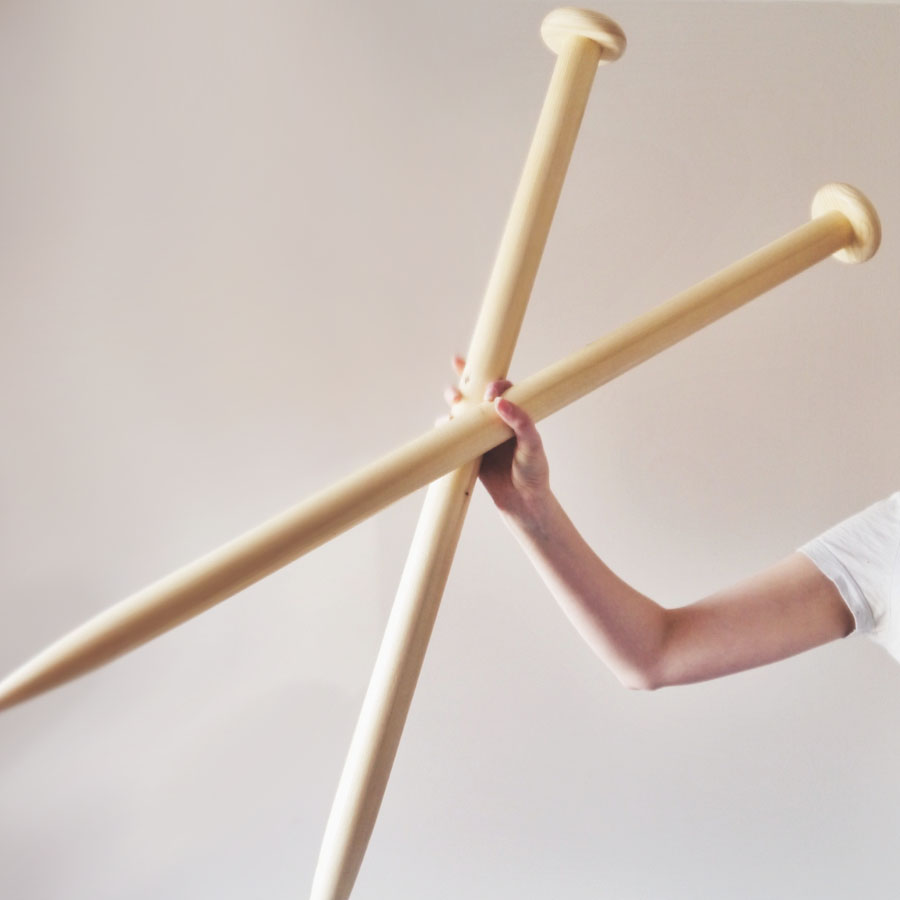 Giant knitting needles