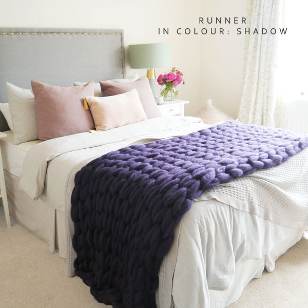 Chunky knit runner blanket