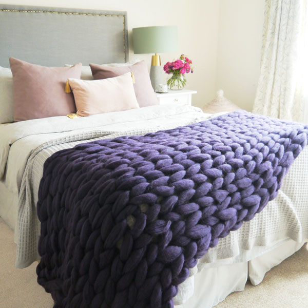 Chunky Knit Blanket Runner