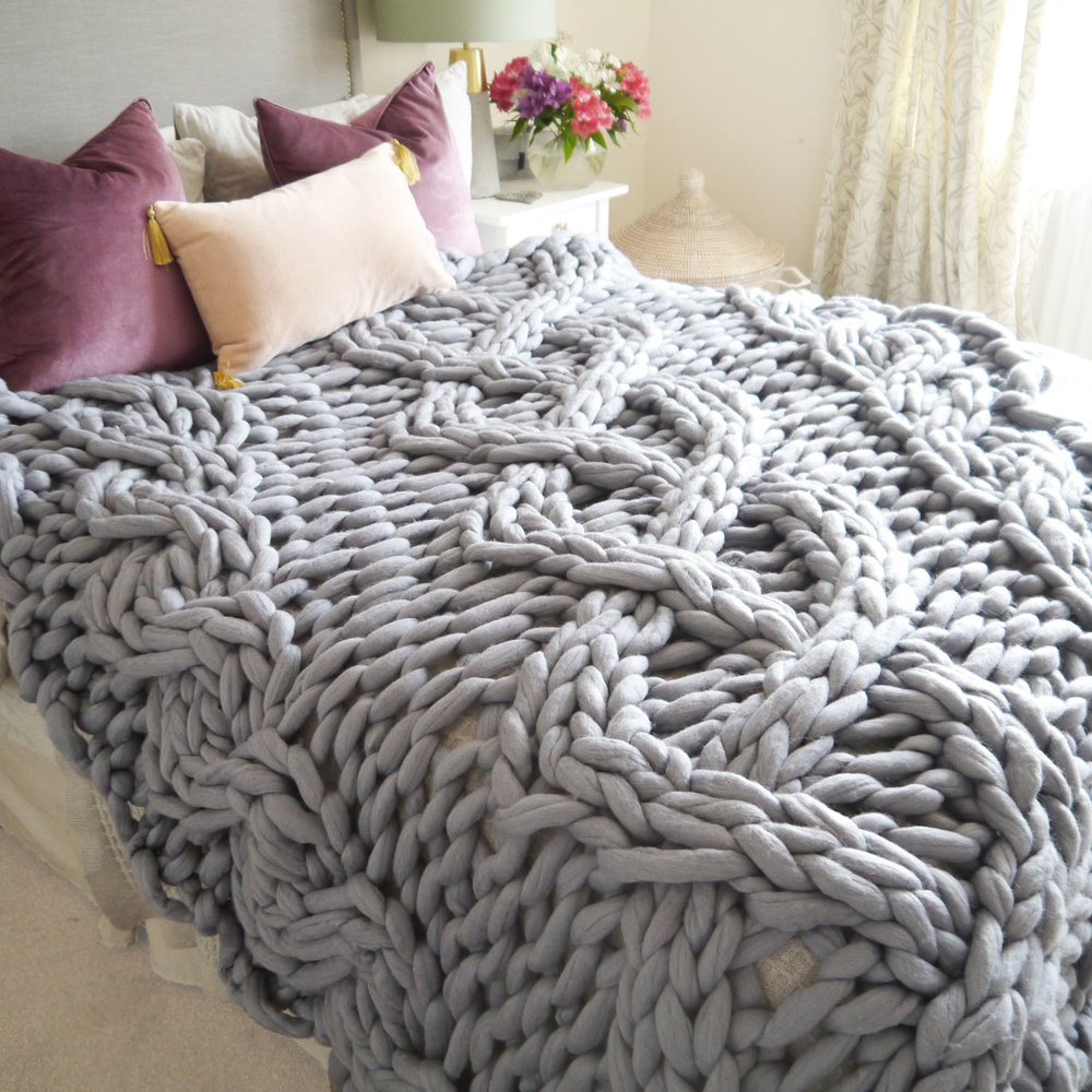 giant cable knit blanket - Cable Knit Throw