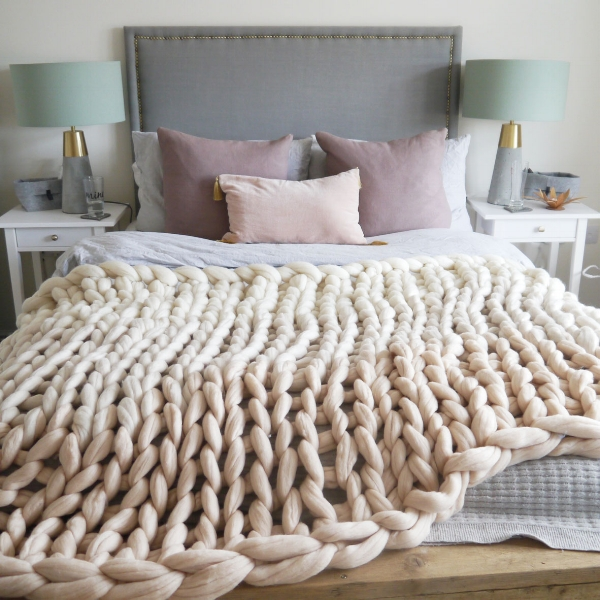 Neutral Ombre Blanket by Lauren Aston