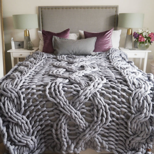 Lauren Aston Designs Cable Knit Blanket