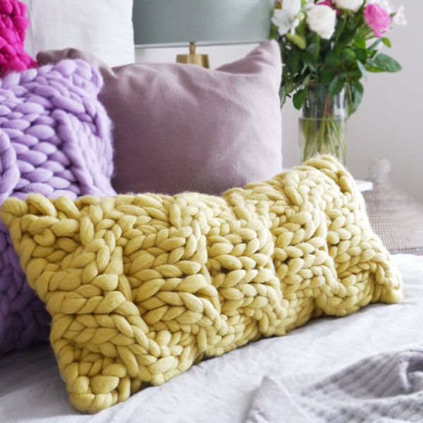 Chunky Knit Cable Cushion