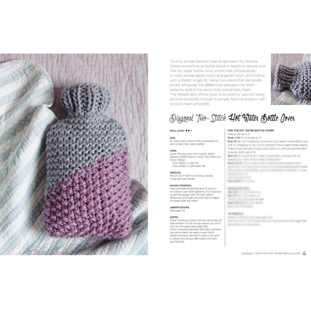 Hot Water Bottle Cover Lauren Aston Designs Super Chunky Knits