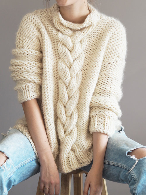 Cable Knit Jumper Pattern Lauren Aston Designs