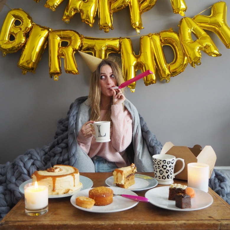 This image was taken after my Birthday for Instagram, there is a blanket in it but it's not to main event. It fits with my brand because, well... tea and cake. it's hopefully a little fun and it was relevant at the time.