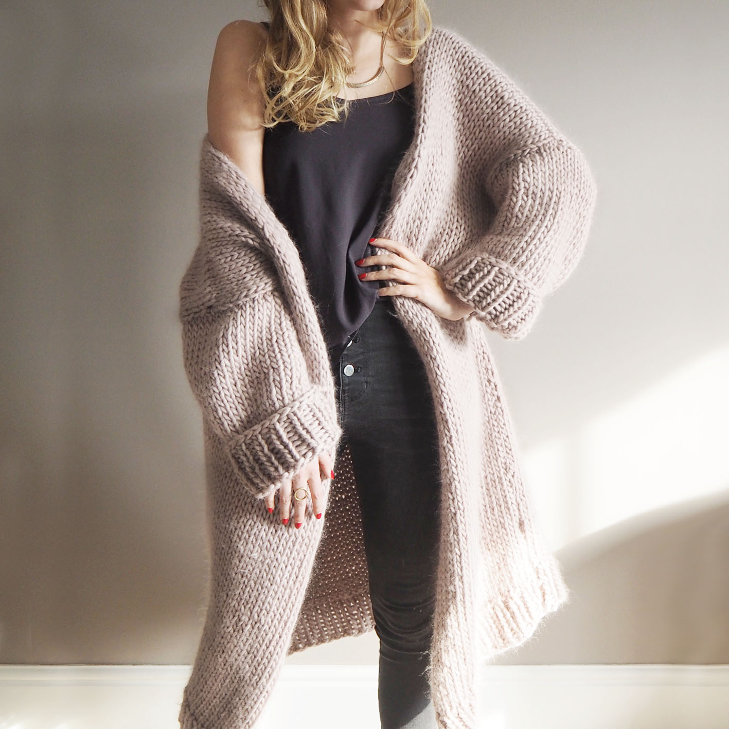 a0c3464a409b Dreamy Oversized Cardigan Knitting Pattern — Lauren Aston Designs