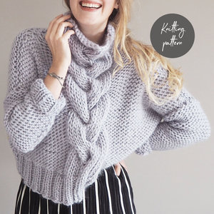 9653ca49b9c83b Cropped Cable Knit Jumper Pattern ...
