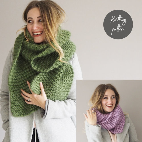 Scarf Snood Knitting Pattern Lauren Aston Designs