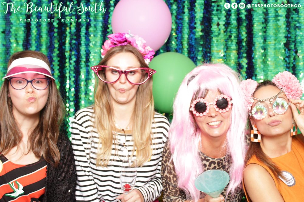 Me with Amy and Olivia from  The Beautiful South Photobooth Company  (on each end) and Clare Elizabeth Kilgour who makes  AH-MAZING jewellery