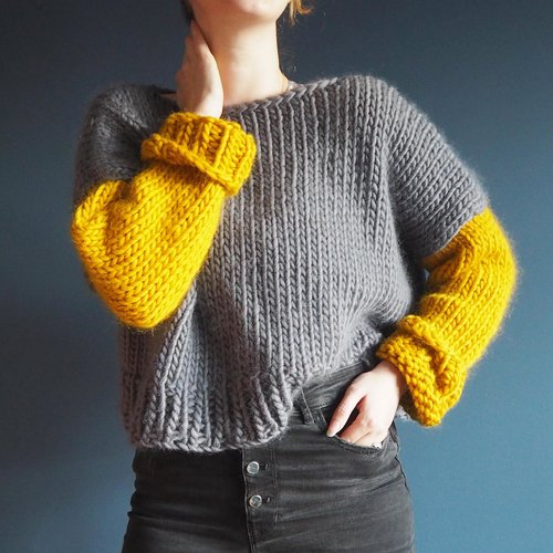 d813610eb06c74 Beginners Boat Neck Jumper Knitting Pattern — Lauren Aston Designs