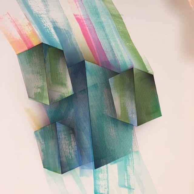 """AQUA"" Pintando ando👨🏼🎨 @gerstlart #gerstl #gerstlart #poesiageometrica #geometricpoetry  #acuarela"