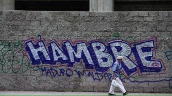 hambre 🏴 Estoy en contacto con este colectivo de artistas ... algunos libres otros presos por estas obras 🏴#graffiti #venezuela