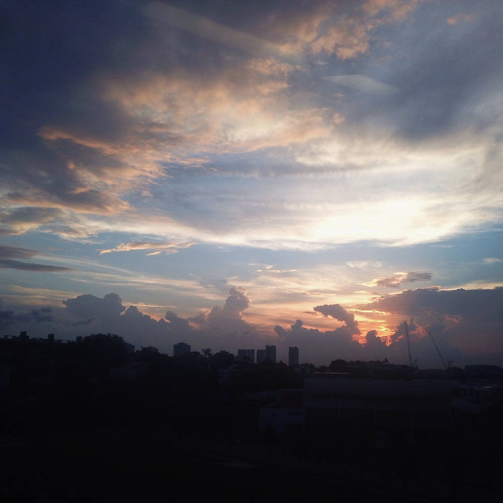 A shot of sunset taken from my train home