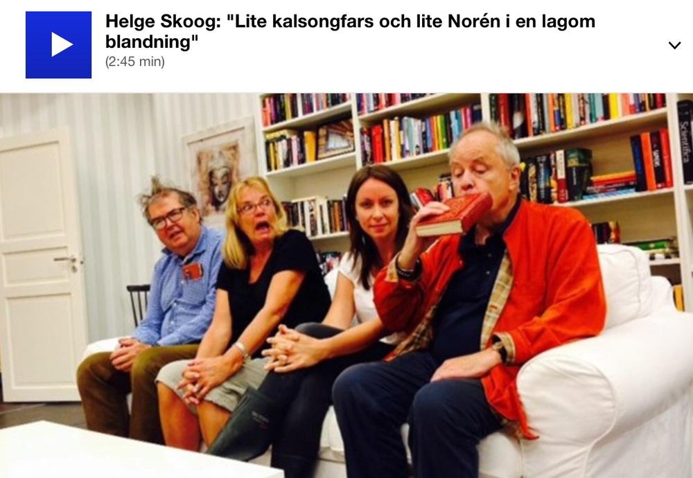 Michael Segerström, Anki Lindén, Lisa Lexfors och Helge Skoog. Foto: Karin Casslén.