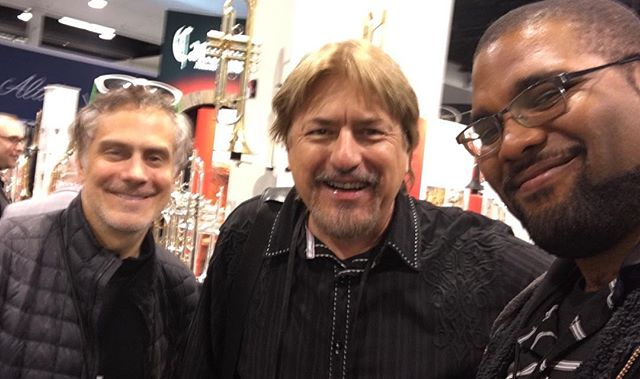 I was also able to check out a little of NAMM before a show later that night and ran into Bill Churchville.... a small #kingdomheartsorchestra reunion