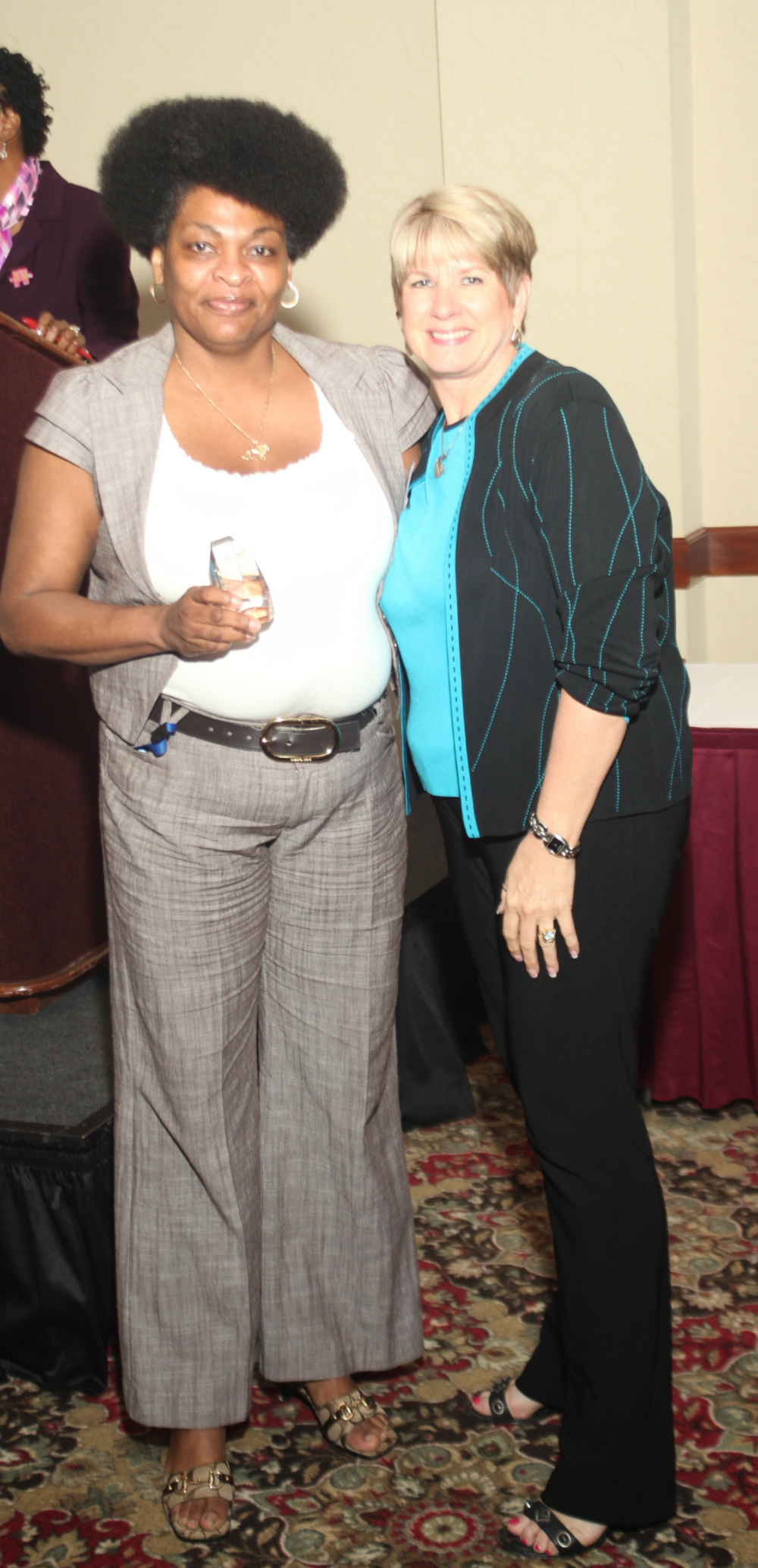 PICCOLA WITH BOARD PRESIDENT, CORRINE HARTMAN